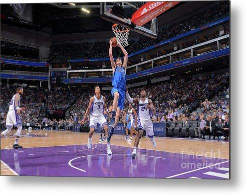 Nba Pro Basketball Metal Print featuring the photograph Dallas Mavericks V Sacramento Kings by Rocky Widner