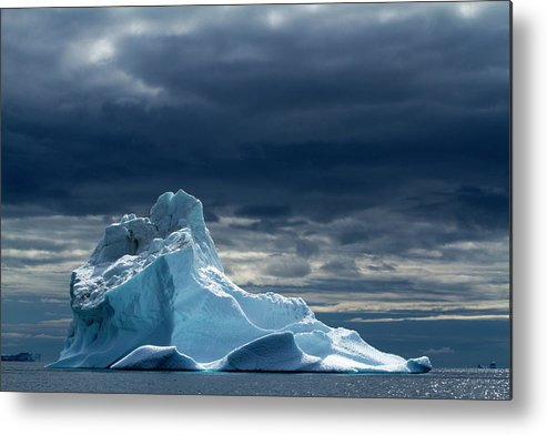 Tranquility Metal Print featuring the photograph Icebergs, Disko Bay, Greenland by Paul Souders