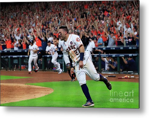 Game Two Metal Print featuring the photograph League Championship Series - New York by Ronald Martinez