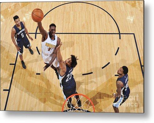 Nba Pro Basketball Metal Print featuring the photograph Memphis Grizzlies V Denver Nuggets by Garrett Ellwood