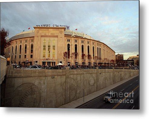 Game Two Metal Print featuring the photograph Philadelphia Phillies V New York by Jed Jacobsohn