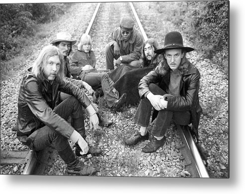 Music Metal Print featuring the photograph Photo Of Allman Brothers by Michael Ochs Archives