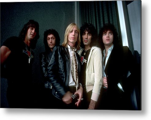 Music Metal Print featuring the photograph Photo Of Tom Petty & The Heartbreakers by Michael Ochs Archives
