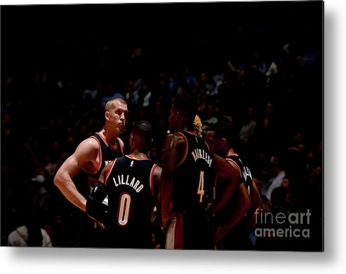 Nba Pro Basketball Metal Print featuring the photograph Portland Trail Blazers V Denver Nuggets by Bart Young