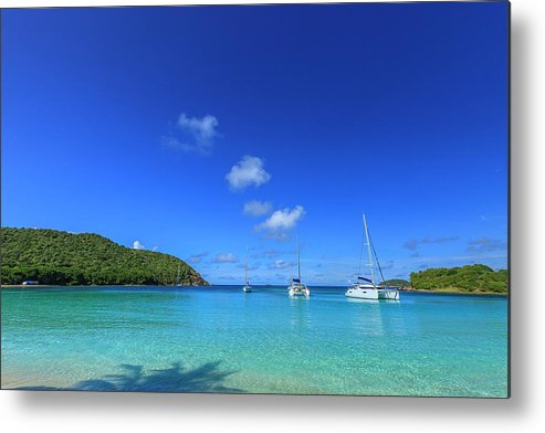 Water's Edge Metal Print featuring the photograph Salt Whistle Bay, Mayreau by Argalis