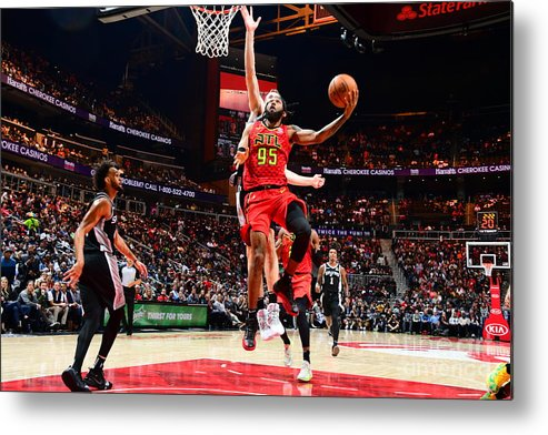 Atlanta Metal Print featuring the photograph San Antonio Spurs V Atlanta Hawks by Scott Cunningham