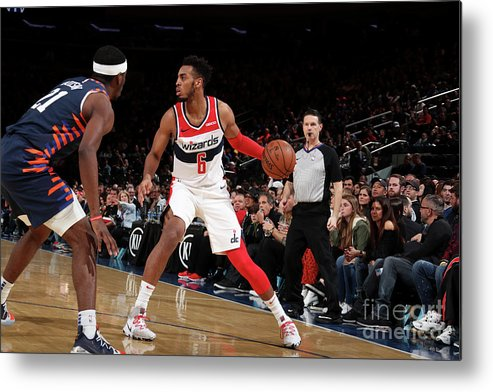 Nba Pro Basketball Metal Print featuring the photograph Washington Wizards V New York Knicks by Nathaniel S. Butler