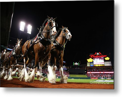 Horse Metal Print featuring the photograph World Series - Boston Red Sox V St by Ronald Martinez