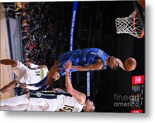 Nba Pro Basketball Metal Print featuring the photograph Dallas Mavericks V Denver Nuggets by Garrett Ellwood
