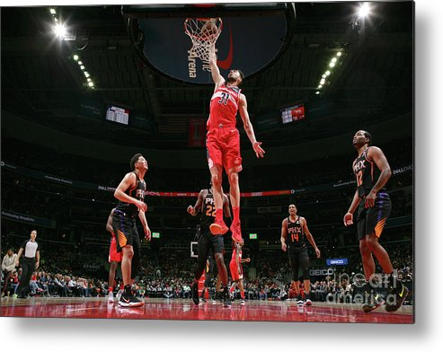 Nba Pro Basketball Metal Print featuring the photograph Phoenix Suns V Washington Wizards by Ned Dishman