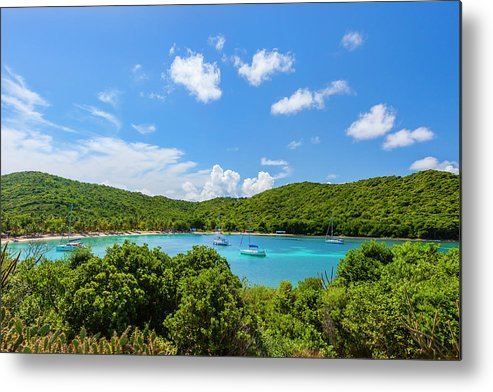 Sailboat Metal Print featuring the photograph Salt Whistle Bay, Mayreau by Argalis