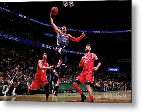 Nba Pro Basketball Metal Print featuring the photograph Toronto Raptors V Washington Wizards by Ned Dishman