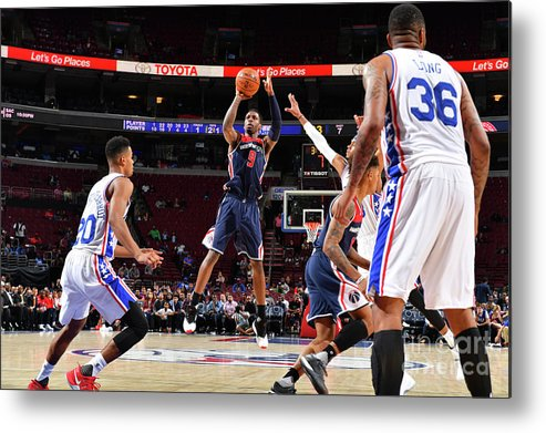 Nba Pro Basketball Metal Print featuring the photograph Washington Wizards V Philadelphia 76ers by Jesse D. Garrabrant