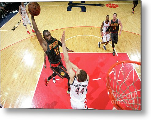Tim Hardaway Jr. Metal Print featuring the photograph Atlanta Hawks V Washington Wizards - by Ned Dishman