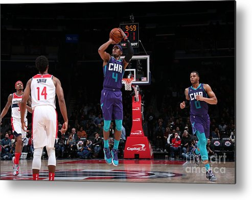 Nba Pro Basketball Metal Print featuring the photograph Charlotte Hornets V Washington Wizards by Ned Dishman