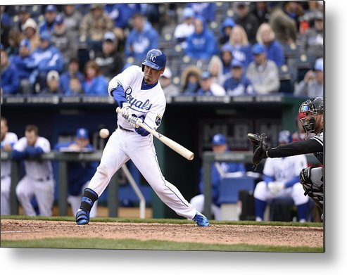 American League Baseball Metal Print featuring the photograph Chicago White Sox V. Kansas City Royals by John Williamson