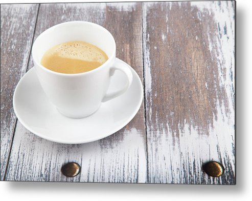 Cappuccino Metal Print featuring the photograph Coffee by Focusstock