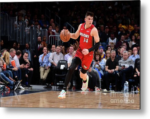 Tyler Herro Metal Print featuring the photograph Miami Heat V Denver Nuggets by Bart Young