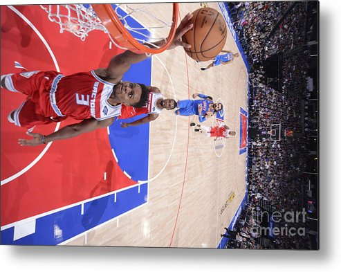 Nba Pro Basketball Metal Print featuring the photograph Oklahoma City Thunder V Sacramento Kings by Rocky Widner
