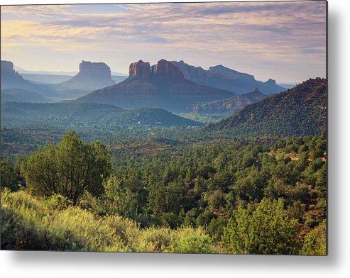 Scenics Metal Print featuring the photograph Usa, Arizona, Sedona by Michele Falzone