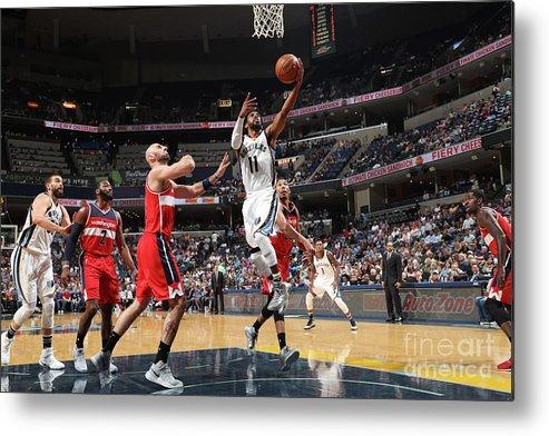 Nba Pro Basketball Metal Print featuring the photograph Washington Wizards V Memphis Grizzlies by Joe Murphy