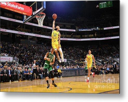 San Francisco Metal Print featuring the photograph Boston Celtics V Golden State Warriors by Noah Graham