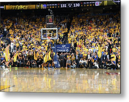 Playoffs Metal Print featuring the photograph La Clippers V Golden State Warriors - by Andrew D. Bernstein