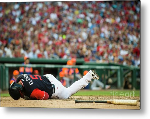 People Metal Print featuring the photograph New York Mets V Washington Nationals by Patrick Mcdermott