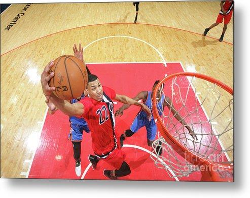 Nba Pro Basketball Metal Print featuring the photograph Oklahoma City Thunder V Washington by Ned Dishman