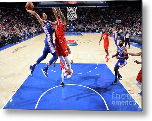 Nba Pro Basketball Metal Print featuring the photograph Houston Rockets V Philadelphia 76ers by Jesse D. Garrabrant