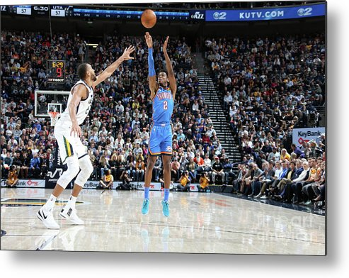 Nba Pro Basketball Metal Print featuring the photograph Oklahoma City Thunder V Utah Jazz by Melissa Majchrzak