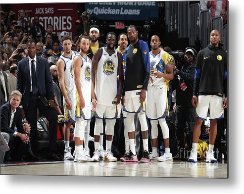 Playoffs Metal Print featuring the photograph 2018 Nba Finals - Game Four by Nathaniel S. Butler