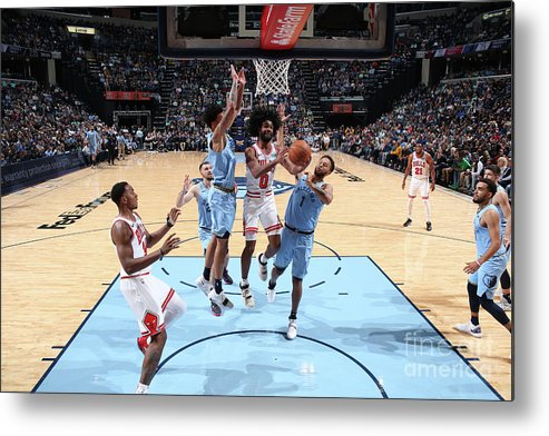 Coby White Metal Print featuring the photograph Chicago Bulls V Memphis Grizzlies by Joe Murphy