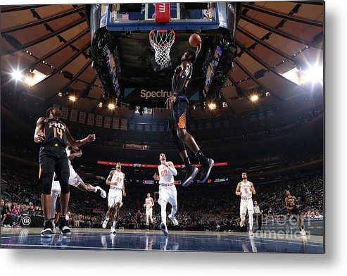Nba Pro Basketball Metal Print featuring the photograph Phoenix Suns V New York Knicks by Nathaniel S. Butler