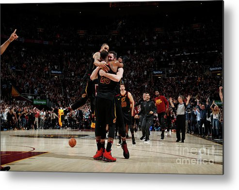 Playoffs Metal Print featuring the photograph Toronto Raptors V Cleveland Cavaliers - by Jeff Haynes