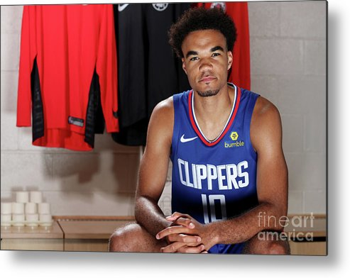 Jerome Robinson Metal Print featuring the photograph 2018 Nba Rookie Photo Shoot by Nathaniel S. Butler