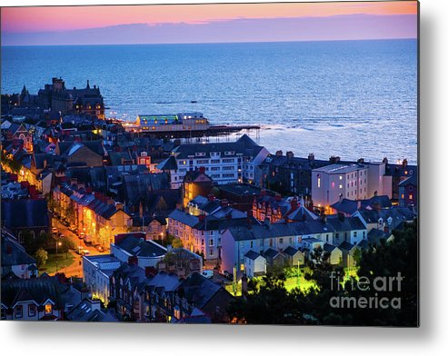 Aberystwyth Metal Print featuring the photograph Aberystwyth At Night by Keith Morris