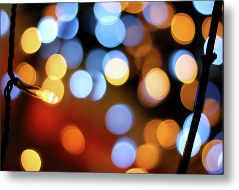 Outdoors Metal Print featuring the photograph Abstract Spotted Color Pattern Dot Of by Hidehiro Kigawa