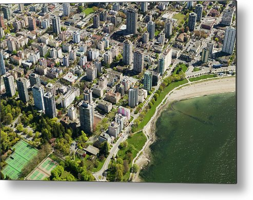 Outdoors Metal Print featuring the photograph Aerial Of West End, Vancouver by Lucidio Studio, Inc.