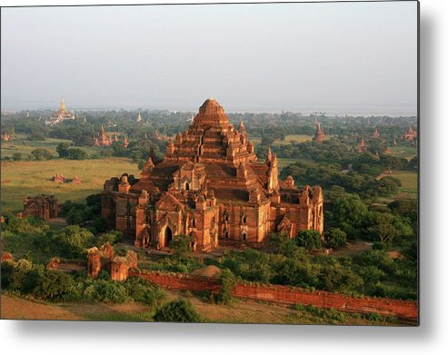 Tranquility Metal Print featuring the photograph Aerial View Of Dhammayangyi, Bagan by Joe & Clair Carnegie / Libyan Soup
