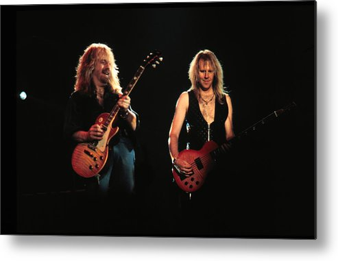Tom Hamilton Metal Print featuring the photograph Aerosmith Performing In Mn by Jim Steinfeldt