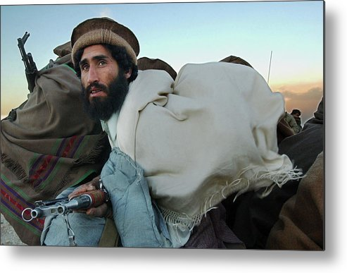 Mujahedeen Metal Print featuring the photograph Al Qaeda Routed From Tora Bora by Chris Hondros