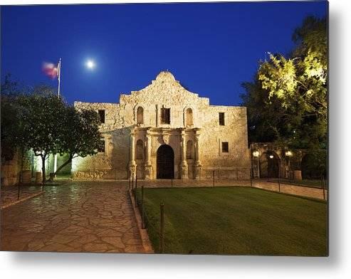War Metal Print featuring the photograph Alamo Mission, San Antonio, A Famous by Yinyang