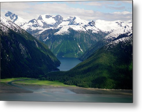 Extreme Terrain Metal Print featuring the photograph Alaska From The Air by Groveb