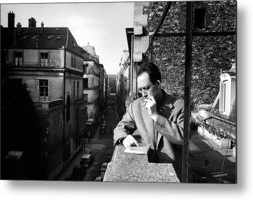 Timeincown Metal Print featuring the photograph Albert Camus by Loomis Dean