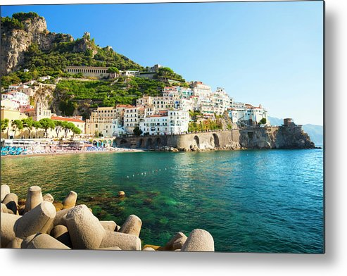 Tyrrhenian Sea Metal Print featuring the photograph Amalfi Coast, Italy by Brzozowska