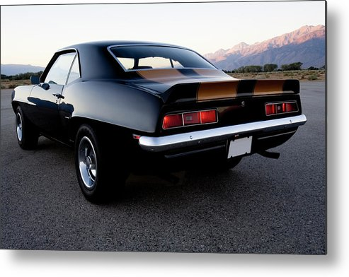 Drag Racing Metal Print featuring the photograph American Muscle Car by Sierrarat