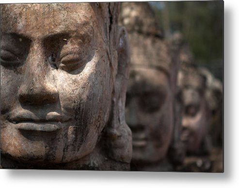 Art Metal Print featuring the photograph Angkor Warriors by Romulo Rejon