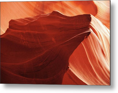 Curve Metal Print featuring the photograph Antelope Canyon Detail by Alexandra Draghici