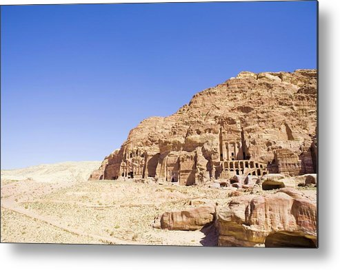 Scenics Metal Print featuring the photograph Archaeological Remains Of Petra by Gallo Images